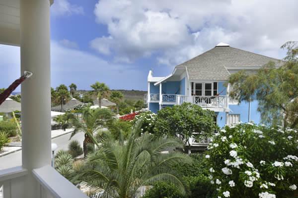 Resort huis palmboom