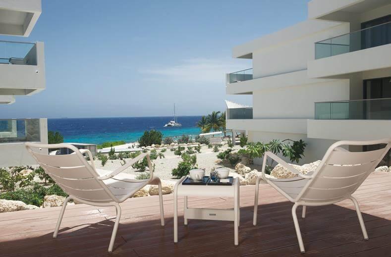 Zitje tijdens huwelijksreis naar Curacao