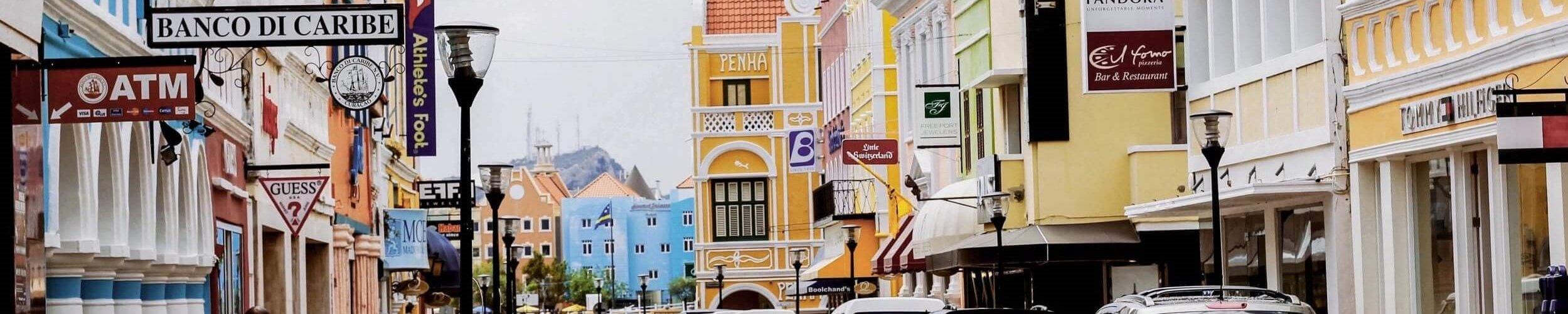 straat in Willemstad - Horizontaal